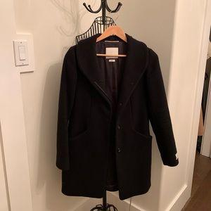 Wilfred Black Cocoon Wool Coat